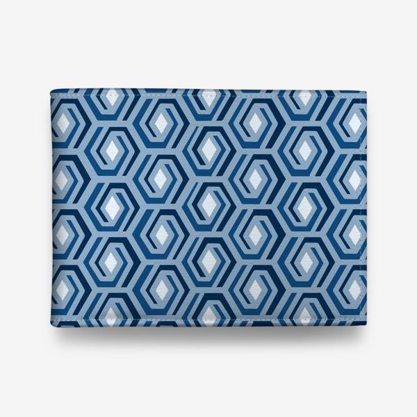 Кошелек «Синяя геометрия»