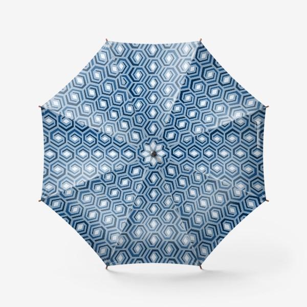 Зонт «Синяя геометрия»