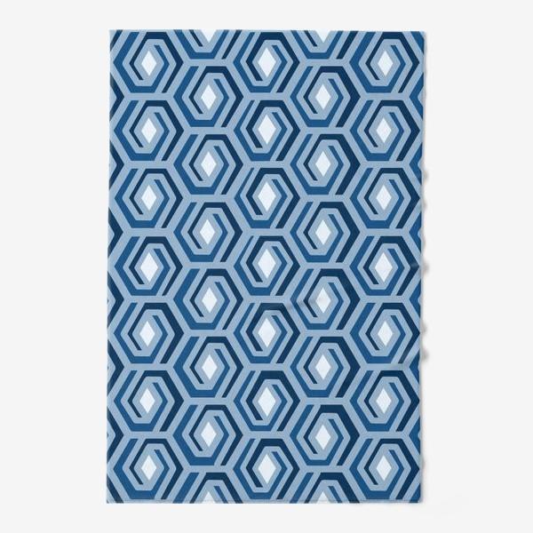 Полотенце «Синяя геометрия»