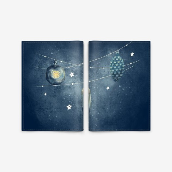 Обложка для паспорта «Елочные игрушки »