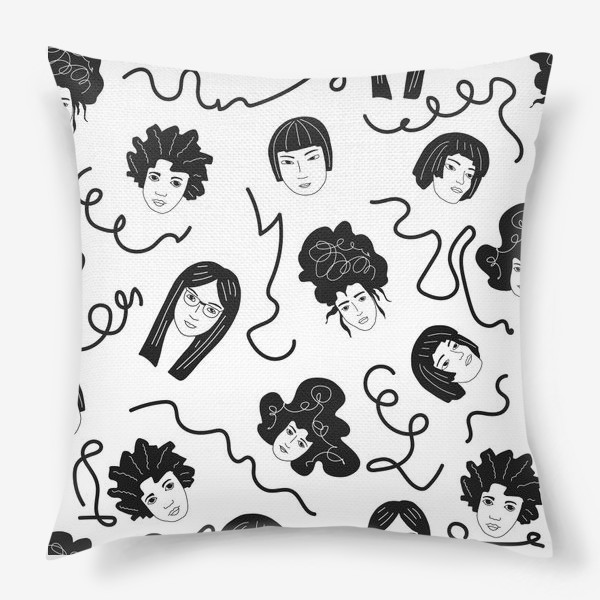 Подушка «Девушки бывают разные»