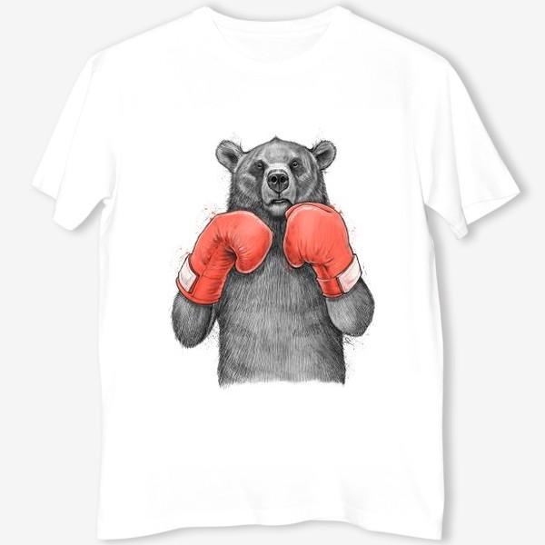 Футболка «Медведь боксер»