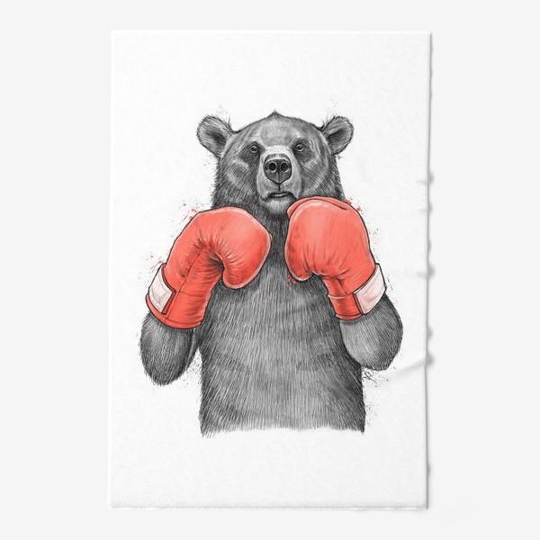 Полотенце «Медведь боксер»