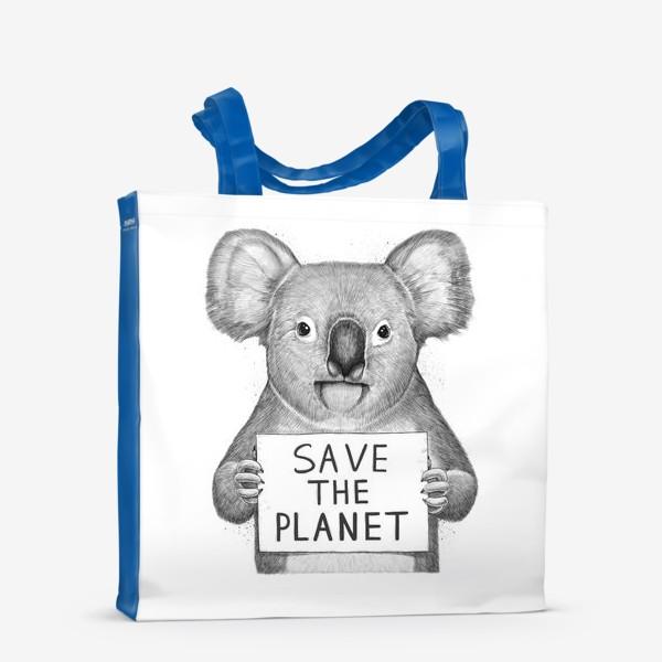 Сумка-шоппер «Коала save the planet»