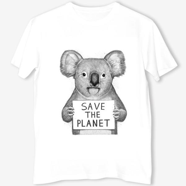 Футболка «Коала save the planet»
