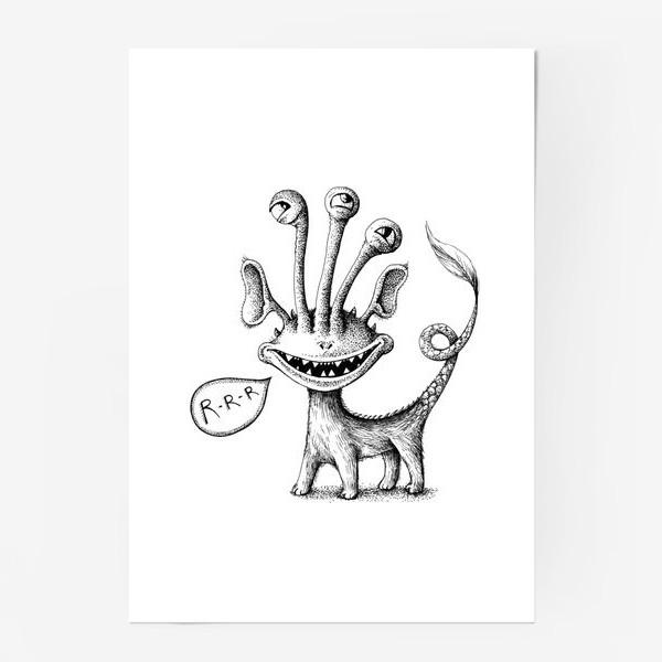 Постер «Рычащий монстрик»