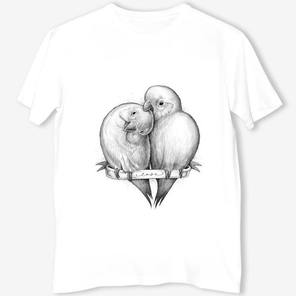 Футболка «Милые попугаи»