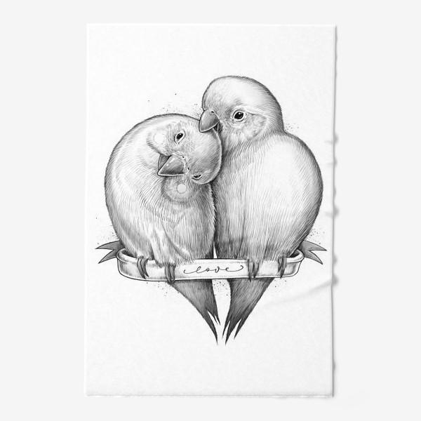 Полотенце «Милые попугаи»