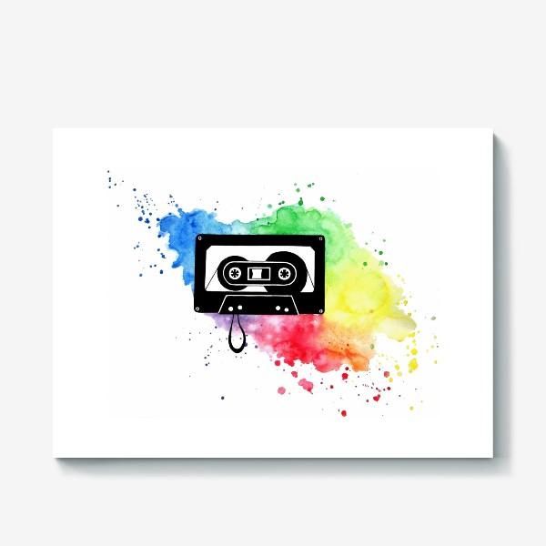Холст «Аудиокассета»