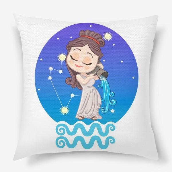 Подушка «Космический водолей принт»