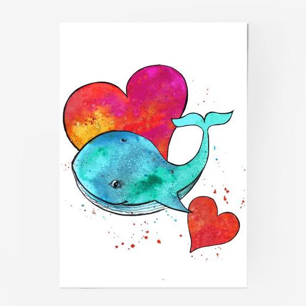 Постер «дельфин и сердце»