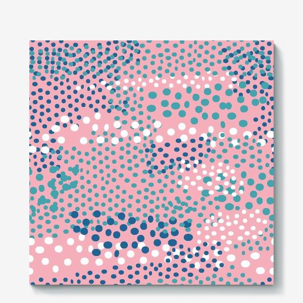 Холст «абстрактный розовый фон с точками»