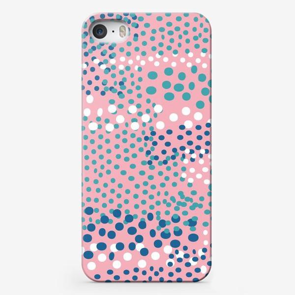 Чехол iPhone «абстрактный розовый фон с точками»