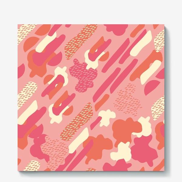 Холст «абстрактный фон тёплый камуфляж хаки»