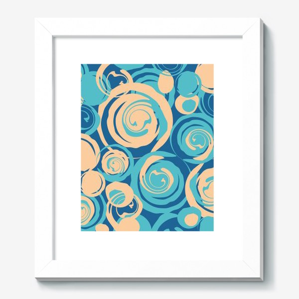 Картина «абстрактный фон круги и спирали на синем фоне»