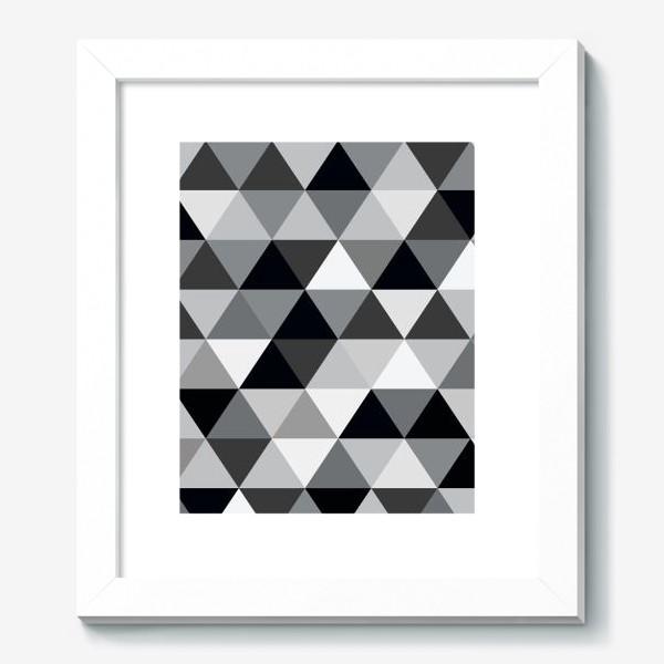 Картина «Монохромный паттерн из треугольников»