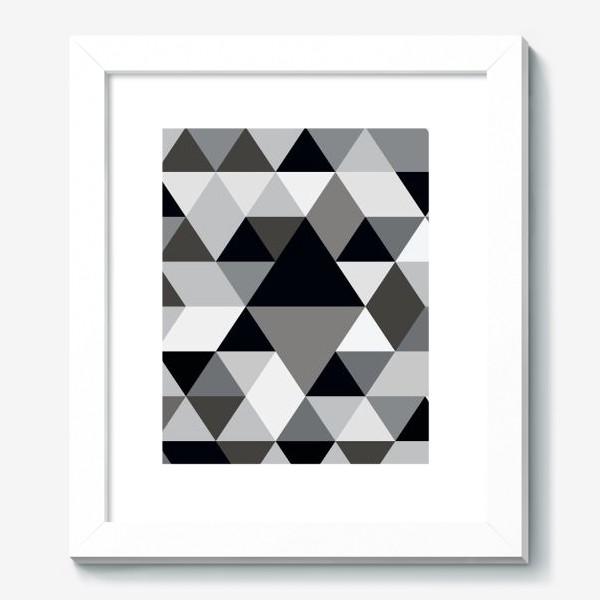 Картина «Монохромный паттерн из треугольников и ромбов»