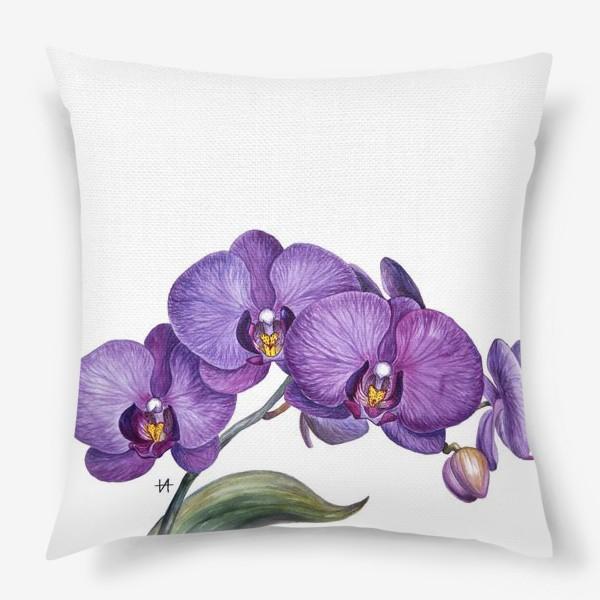 Подушка «Ветка орхидеи»