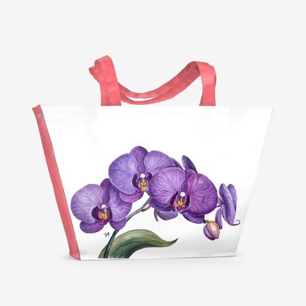 Пляжная сумка «Ветка орхидеи»