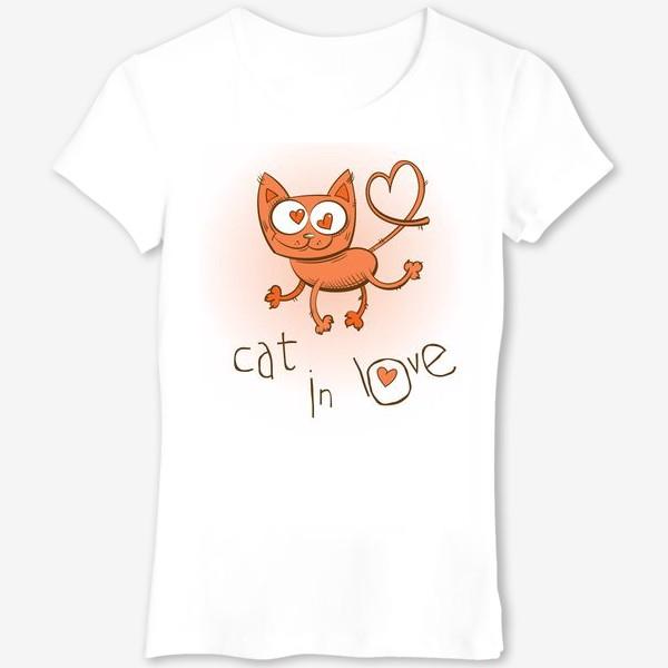 Футболка «Влюблённый кошка»