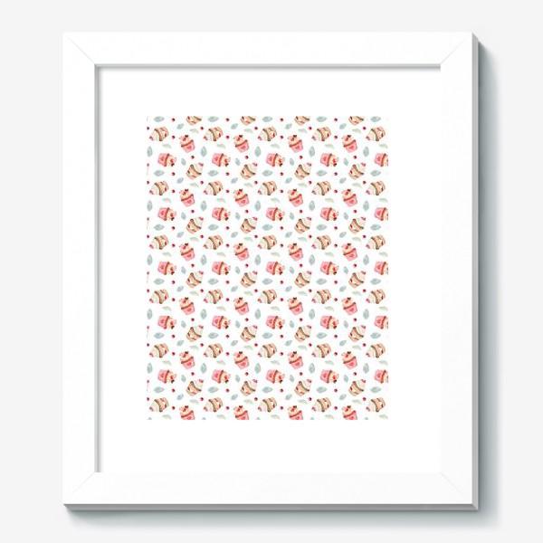 Картина «Безшовный паттерн на день Валентина с романтическими сладостями»