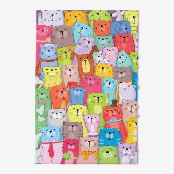 Полотенце «Семейное фото. Коты. Котики»