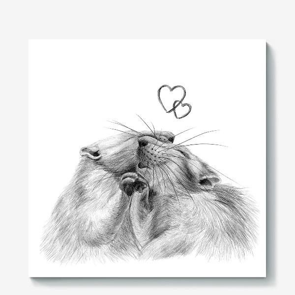 Холст «влюбленные крысы»