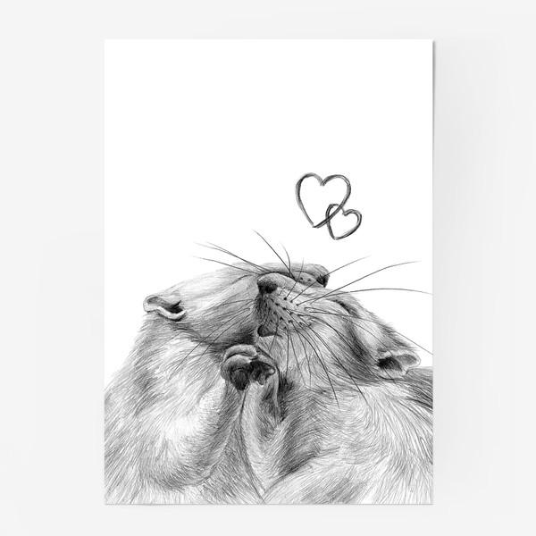 Постер «влюбленные крысы»