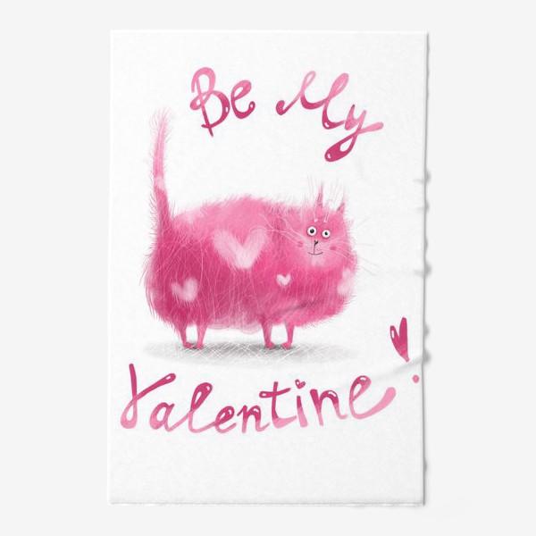 Полотенце «Розовый кот»