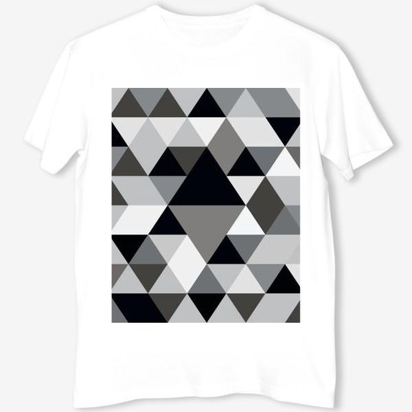 Футболка «Монохромный паттерн из треугольников и ромбов»