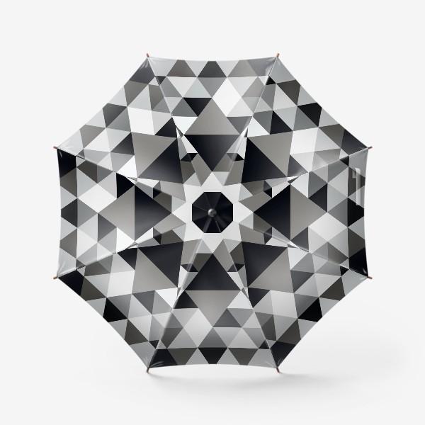 Зонт «Монохромный паттерн из треугольников и ромбов»
