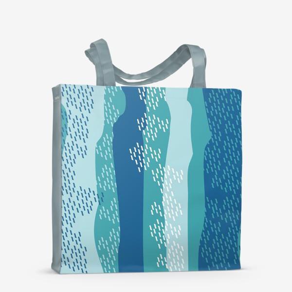 Сумка-шоппер «абстрактный фон полосы и штрихи»