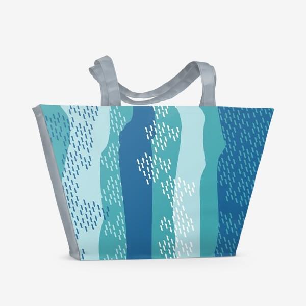 Пляжная сумка «абстрактный фон полосы и штрихи»