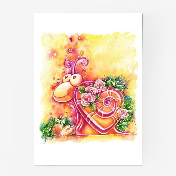 Постер «Улитка на день святого Валентина»