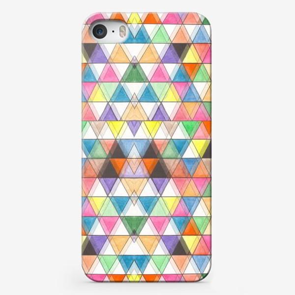 Чехол iPhone «Цветовой треугольник»