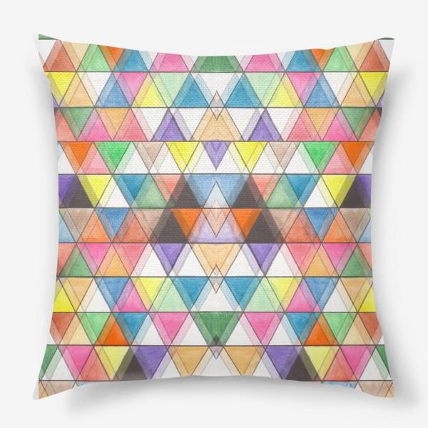 Подушка «Цветовой треугольник»