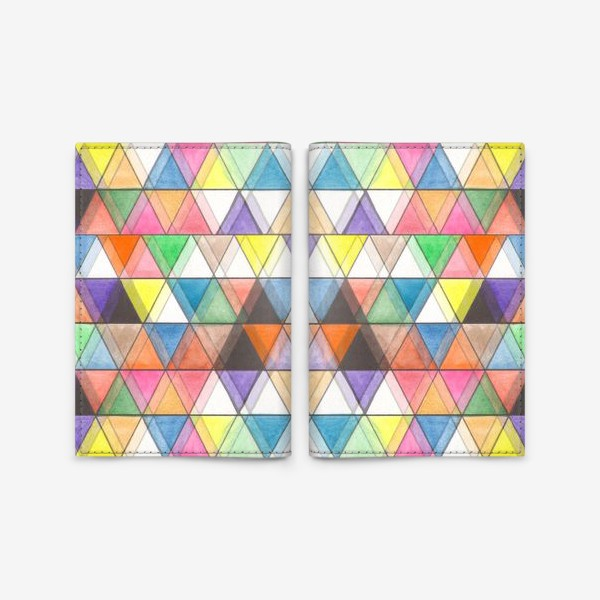 Обложка для паспорта «Цветовой треугольник»