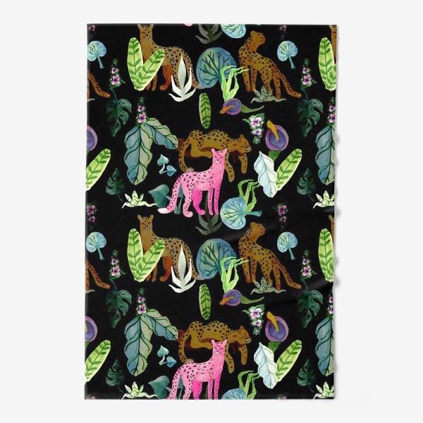 Полотенце «Тропики и леопарды»