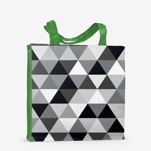 Сумка-шоппер «Монохромный паттерн из треугольников»