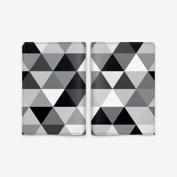 Обложка для паспорта «Монохромный паттерн из треугольников»