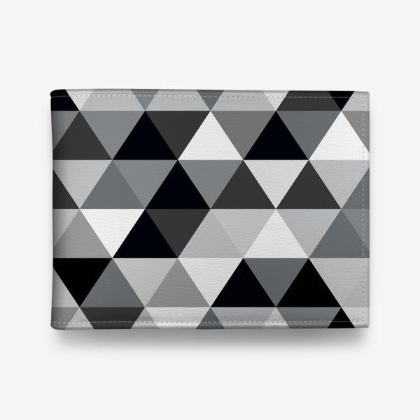 Кошелек «Монохромный паттерн из треугольников»