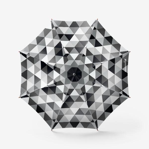 Зонт «Монохромный паттерн из треугольников»