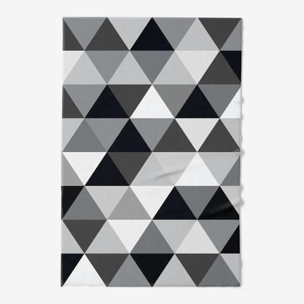 Полотенце «Монохромный паттерн из треугольников»