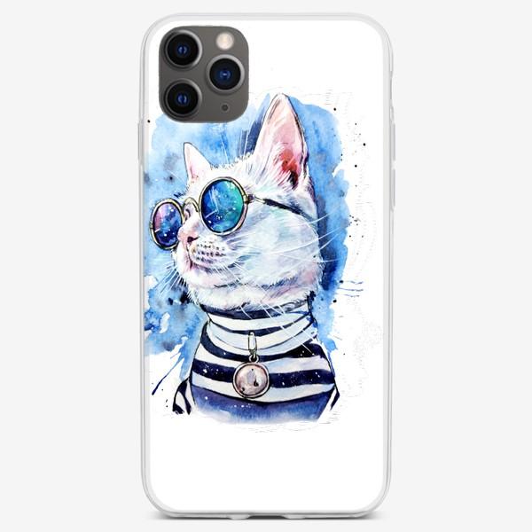 Чехол iPhone «кот модник»
