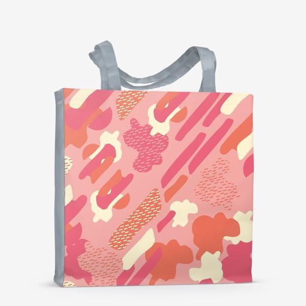 Сумка-шоппер «абстрактный фон тёплый камуфляж хаки»