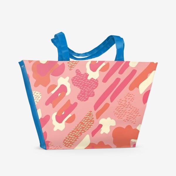 Пляжная сумка «абстрактный фон тёплый камуфляж хаки»