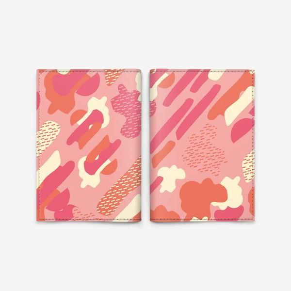 Обложка для паспорта «абстрактный фон тёплый камуфляж хаки»