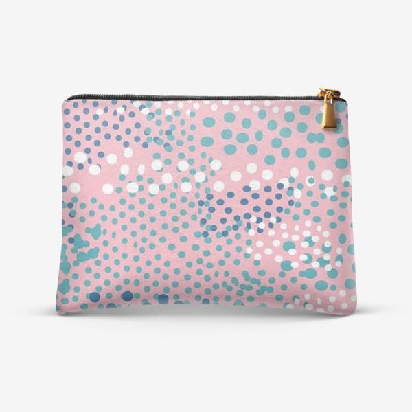 Косметичка «абстрактный розовый фон с точками»