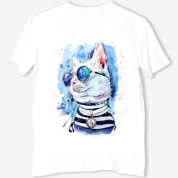 Футболка «кот модник»