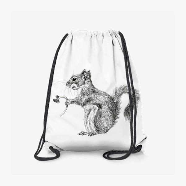 Рюкзак «Белка девочка с цветами»